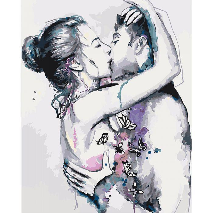 Картина рисование по номерам Идейка Страсть KHO2673 40 х 50 набор для росписи по цифрам, краски, кисти, холст