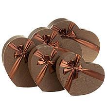 """Набор коробок """"Мгновение"""" 5 шт, коричневый"""