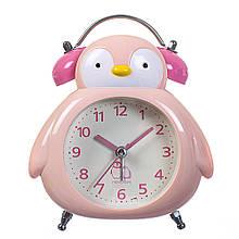 """Будильник """"Пингвиненок""""  розовый"""