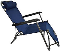 Шезлонг Bonro лежак 153 см Темно-Синий, фото 1