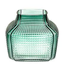 """Стеклянная ваза """"Утренний бриз"""" 16 см"""