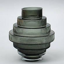 "Стеклянная ваза ""Торнадо"", 25 см."
