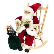 """Фігура """"Дід Мороз в кріслі-гойдалці"""""""