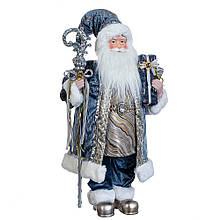 """Фігурка """"Санта з посохом"""" у синьому"""