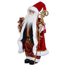 """Фигурка """"Санта с посохом""""  в красном"""