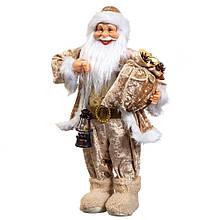 "Фигура ""Санта с подсвечником"" бежевый"
