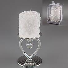 Весільна свічка (9 см) (колір кремовий, білий)