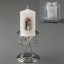 Весільна свічка (10 см) (колір кремовий, білий)