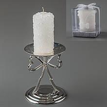 Весільна свічка (8 см) (колір жовтий, білий)