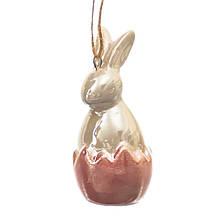 Подвеска Кролик розовая 6,5 см.