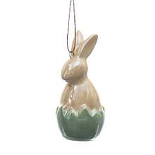 Подвеска Кролик зеленая 6,5 см.
