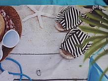 """Пляжна сумка жіноча велика літня з гарним принтом """"Морський пляж"""" 55*36 см П-1437, фото 3"""