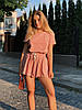 Костюм женский двойка футболка+юбка-шорты 90806