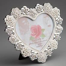 """Фоторамка """"Серце в квітах"""" (15*13 см)"""
