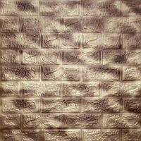 Коричневый мрамор 3Д-панели декоративные для стен, мягкие ПВХ панели под кирпич стеновые 700x770x5 мм
