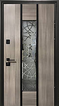 Двери уличные, модель Thermo Steel 21-05, 2 замка, стелопакет