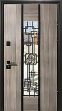 Двери уличные, модель Thermo Steel 21-06, 2 замка, стелопакет, ковка