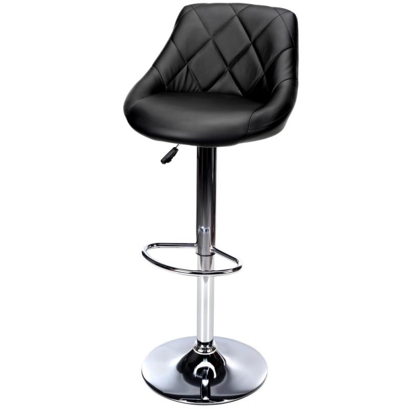 Барний стілець Hoker TOLEDO з поворотом сидіння Чорний