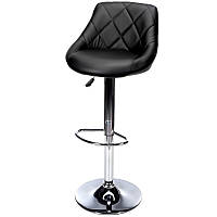Барний стілець Hoker TOLEDO з поворотом сидіння Чорний, фото 1
