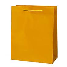 "Подарочный пакет ""Классик"" М, желтый"