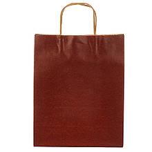 Крафтовый пакет бордовый 31*24*5