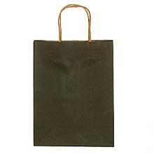 Крафтовый пакет зеленый 27*21*11 см