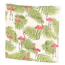 """Подушка для стула """"Фламинго под пальмой"""""""