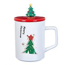 """Чашка """"Новорічний калейдоскоп"""" 300 мл*рендомний вибір дизайну"""