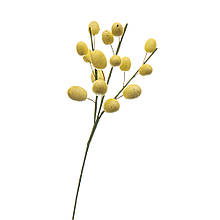 """Декоративна гілка """"Великодні крашанки жовті"""" (15шт)"""
