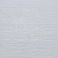 3д панели Белый кирпич Рваный ПВХ самоклейка 3d панели для стен кладка текстура под кирпичи 700x700x5мм