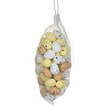 Набор маленьких жёлтых крашенок в мешочке (70шт)