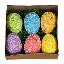 Коробка с цветными яйцами (6шт)
