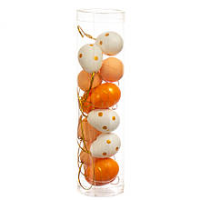 Крашенки декоративные золотисто-белые 12 шт (4,5*3 см)