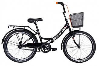 """Велосипед 24"""" FORMULA SMART З КОШИКОМ 2021 (чорно-помаранчевий 15"""")"""