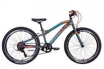 """Велосипед 24"""" FORMULA FOREST 2021 (антрацитно-оранжевий з бірюзовим 12,5"""")"""