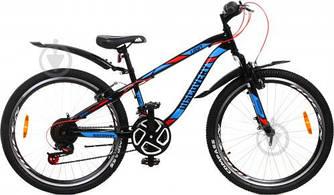 """Велосипед 24"""" DISCOVERY LIGHT 2021 (чорний з синім 13"""")"""