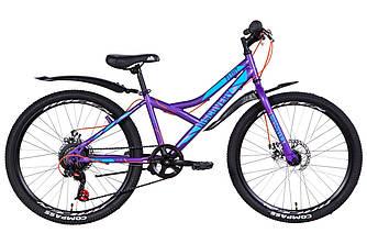 """Велосипед 24"""" FORMULA FLINT DD 2021 (фіолетовий 13"""")"""