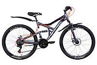 """Велосипед 26"""" DISCOVERY CANYON AM2 DD 2021 (графитово-черный с оранжевым 17,5"""")"""