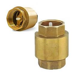 Клапан зворотний кульовий для води з пластмасовим штоком 1