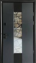 Двери уличные, модель Thermo Steel  Premium 21-09, замки Kale(Турция), ковка внутри стеклопакета