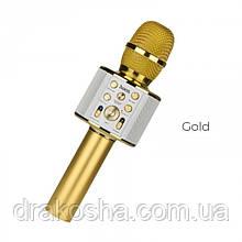 Беспроводной караоке микрофон HOCO BK3 Cool sound Золотой