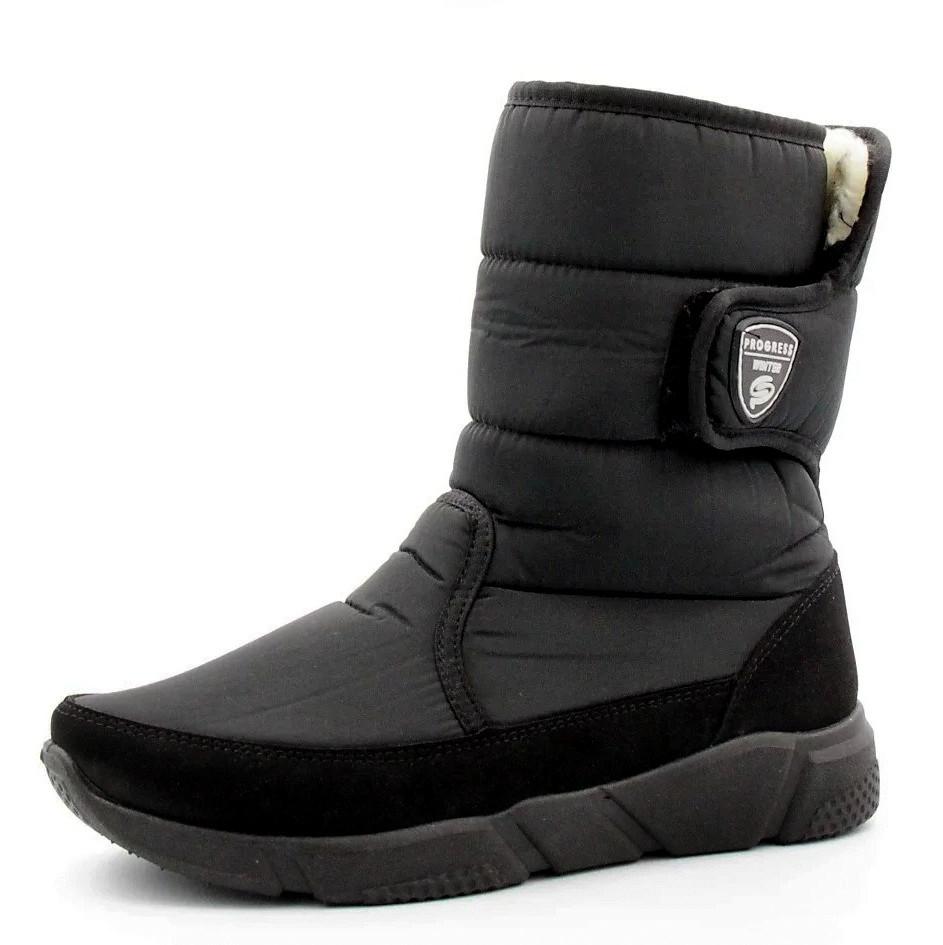 Ботинки мужские - сапоги зимние на молнию маломерки (Пр-3632ч)