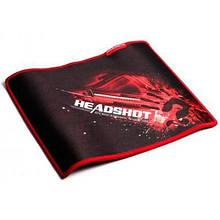 Килимок для миші ігровий 275*225*4мм A4Tech Bloody B-072 гладка поверхня тканини прошитий чорний з червоним