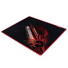Килимок для миші ігровий 430*350*4мм A4Tech Bloody B-070 гладка поверхня тканини прошитий чорний з червоним