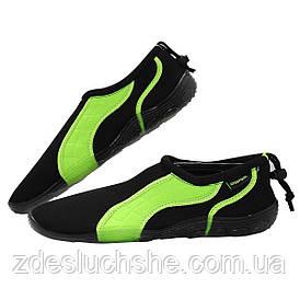 Обувь для пляжа и кораллов аквашузы SportVida Size 42 Black/Green SKL41-277870
