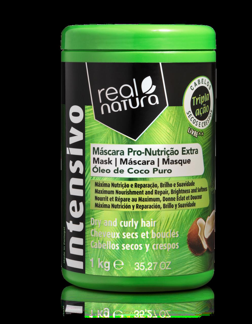 Маска Real Natura Pro-Nutrição Extra Coco для харчування, гладкості і блиску волосся 1kg