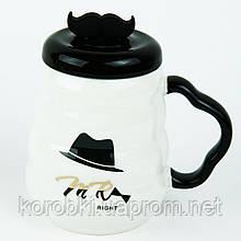 О Керамическая чашка с крышкой и ложкой