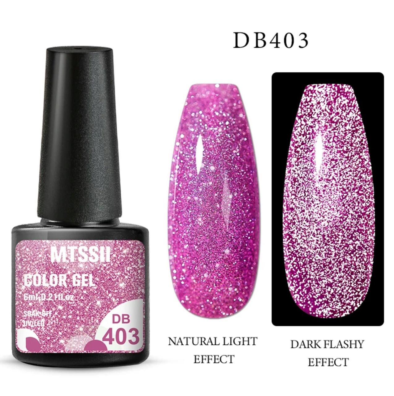 Світловідбиваючий Гель-Лак рожевий №403, 6мл