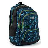 Рюкзак подростковый в школу молодежный для мальчика-девочки 41 см Черно-голубой (25515), фото 2