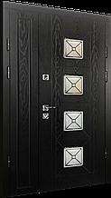 Двери уличные, PRESTIGE 1170*2050, модель 21-64, Полимерные накладки, стелопакет